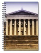 Rocky On The Art Museum Steps Spiral Notebook