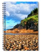 Rocky Oregon Beach Spiral Notebook