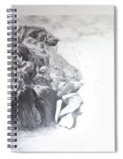 Rocky Outcrop In Snowdonia. Spiral Notebook
