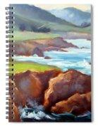 Rocky Point Afternoon Big Sur Spiral Notebook