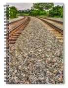 Rocky Railroad Rails Spiral Notebook