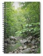 Rocky River In Green Spiral Notebook