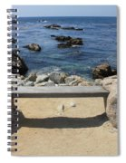 Rocky Seaside Bench Spiral Notebook