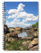 Rocky Shore And Pristine Water Spiral Notebook
