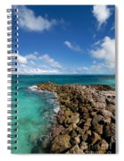 Rocky Shoreline On The Beach At Atlantis Resort Spiral Notebook