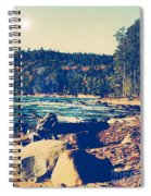 Rocky Shores Of Lake Superior Spiral Notebook