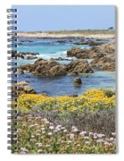 Rocky Surf With Wildflowers Spiral Notebook