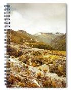 Rocky Valley Mountains Spiral Notebook