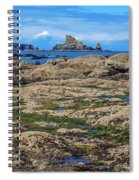 Rocky Washington Coast Of The Pacific Spiral Notebook