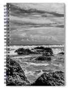 Rocky Waters In Bw Spiral Notebook