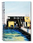 Rod And Reel Fishing Pier Spiral Notebook