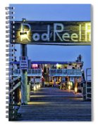 Rod And Reel Pier Spiral Notebook