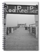 Rod And Reel Pier In Fog In Infrared 53 Spiral Notebook