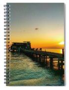 Rod And Reel Pier Sunrise 2 Spiral Notebook