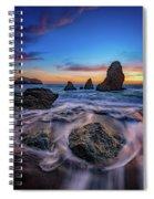 Rodeo Beach Sunset Spiral Notebook