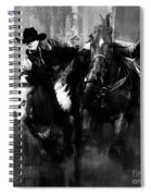 Rodeo In Black Spiral Notebook
