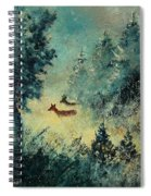 Roe Deers In September Morning Light Spiral Notebook
