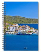 Rogoznica Harbor And Waterfront View Spiral Notebook