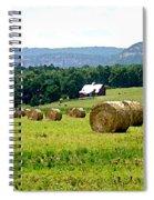Rolled Bales Spiral Notebook