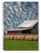 Rolled Up - Hay Rolls And Barn Spiral Notebook