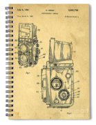 Rolleiflex Medium Format Twin Lens Reflex Tlr Patent Spiral Notebook