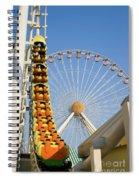 Roller Coaster And Ferris Wheel Spiral Notebook
