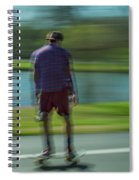 Rollerbladers In Forest Park Spiral Notebook