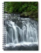 Rolley Lake Falls Dry Brushed Spiral Notebook