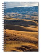 Rolling Foothills And The Bighorn Mountains Spiral Notebook