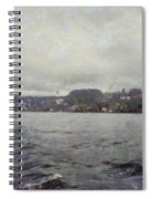 Rolling Waves In A Swiss Lake Spiral Notebook