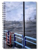 Rolling Waves In Winter At Grand Haven Spiral Notebook