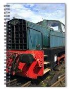 Rolls Royce Sentinel Dl83 Diesel Shunter At The Nene Valley Railway Spiral Notebook
