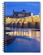 Roman Bridge On Guadalquivir River At Dawn Spiral Notebook