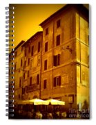 Roman Cafe With Golden Sepia 2 Spiral Notebook