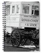 Roman Candy - Bw Spiral Notebook