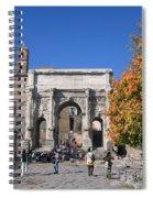 Roman Fall  Spiral Notebook