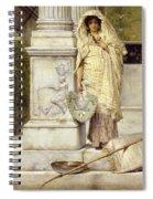 Roman Fisher Girl Spiral Notebook