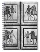 Roman Mosaic: Charioteers Spiral Notebook
