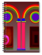 Roman Red Spiral Notebook
