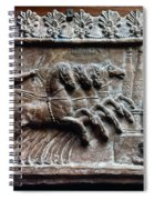 Roman Relief: Chariot Race Spiral Notebook