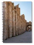 Roman Ruins At Jerash, Jordan  Spiral Notebook