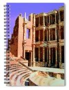 Roman Ruins At Sabrayha Spiral Notebook