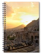 Roman Theater In Taormina IIi Spiral Notebook