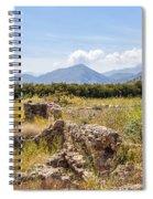 Roman Villa Ruins At Makry Gialos Spiral Notebook