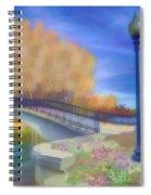 Romance At Elizabeth Park Bridge Spiral Notebook