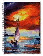 Romancing The Sail Spiral Notebook