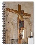 Romanesque Abbey Crucifix Spiral Notebook