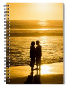 Romantic Beach Silhouette Spiral Notebook