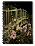 Romantic Garden And Bridge Spiral Notebook