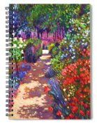 Romantic Garden Walk Spiral Notebook